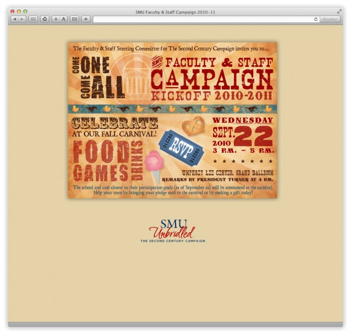 Email: SMU Faculty & Staff Campaign 2010