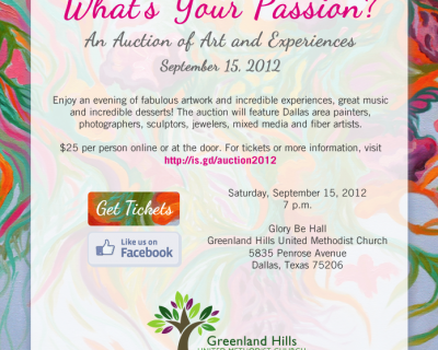Email and Flyer: Greenland Hills Art Auction 2012