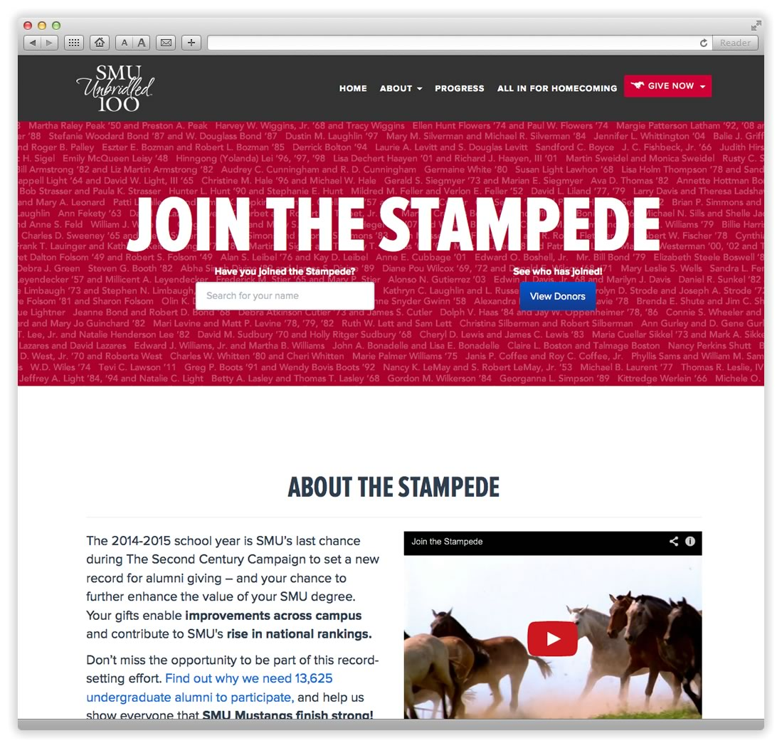 Join the Stampede Home Page