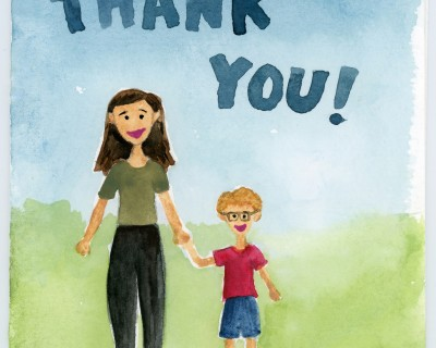 Kindergarten Thank You Card